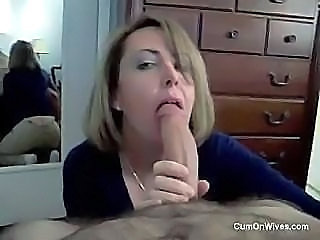 German Wife Eats Cum