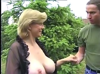 Big Tits  Natural Old and Young Outdoor