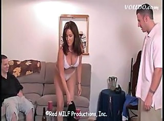 Lingerie  Mom Old and Young Threesome