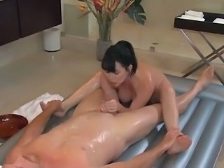 Asian Handjob Interracial Massage  Oiled