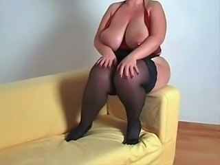 Big Tits  Natural Stockings