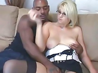 Blonde Cuckold Glasses Interracial   Wife