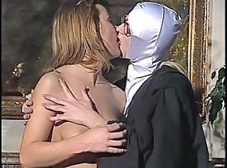 Glasses Kissing Lesbian Mature Nun