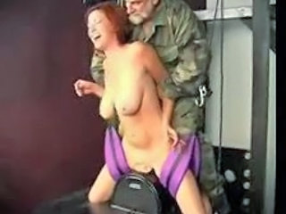 Army Big Tits Daddy Machine  Natural
