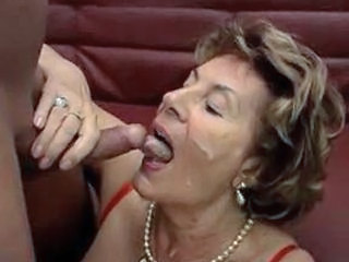 Cumshot Facial German Granny