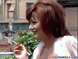 European Italian  Outdoor Redhead Smoking