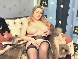 Blonde Mature Stockings