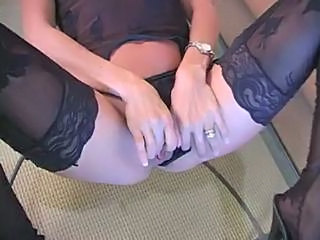 Lingerie Masturbating Mom Stockings