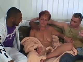 Drunk Mature Mom Old and Young  Threesome