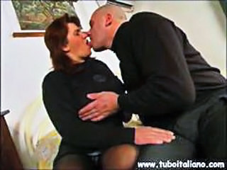 European Italian Kissing Mature