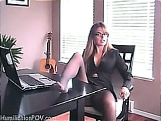 Glasses  Office Secretary Stockings