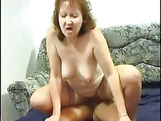 Mature Mom Riding Stockings