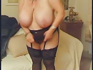 Big Tits European French Mature Natural  Stockings