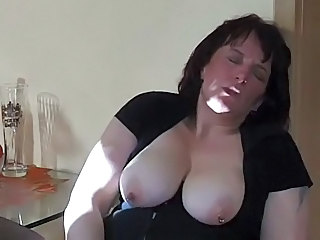 Amateur  Mature Mom Natural Piercing