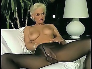 Amazing Blonde European German Masturbating  Pantyhose Solo