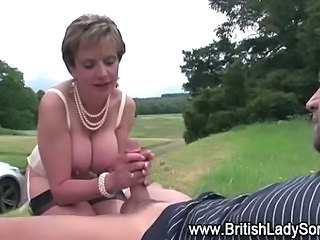 Big Tits British European Handjob  Natural Outdoor