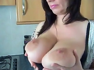 Big Tits Kitchen  Natural Nipples