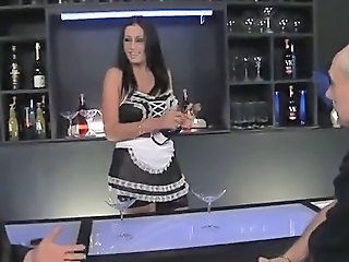 British Drunk European Maid  Threesome Uniform