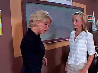 Lesbian  Old and Young School Teacher Teen