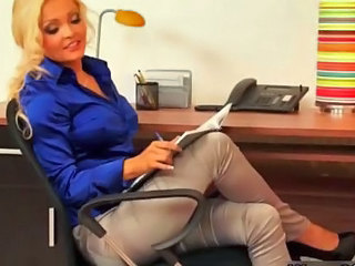 Amazing Blonde  Office Secretary