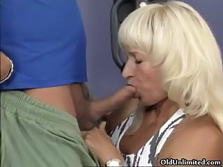 Blonde Blowjob Mature