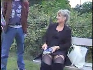 Mature Old and Young Outdoor Public