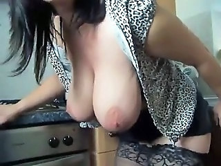 Big Tits British  Pornstar  Stockings