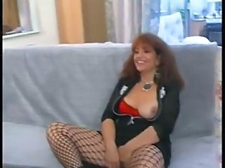 Casting European Fishnet Mature Stockings
