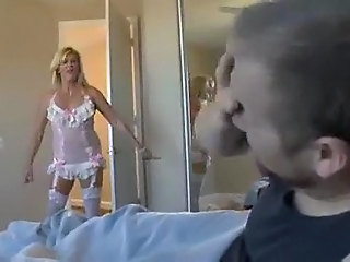 Lingerie Mom Old and Young Stockings