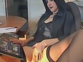 French Masturbating  Stockings