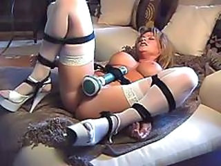 Bdsm Big Tits Bondage Dildo  Stockings