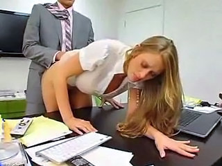Clothed Doggystyle Hardcore  Office Secretary