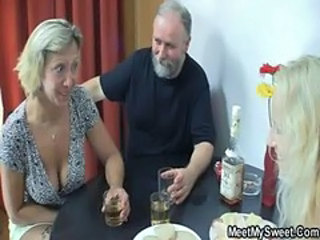 Daddy Daughter Drunk Family Mature Mom Old and Young