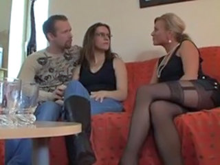 Amateur German Mature Stockings Threesome
