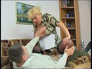 Clothed Maid Mature Old and Young Riding Stockings