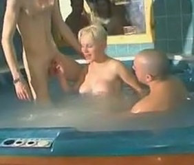 Amateur Big Tits European French  Pool Threesome