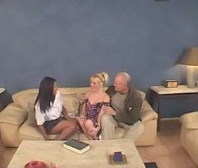 Babysitter  Old and Young Teen Threesome