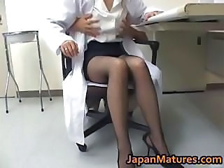 Asian Japanese Legs Mature Nurse Stockings Uniform