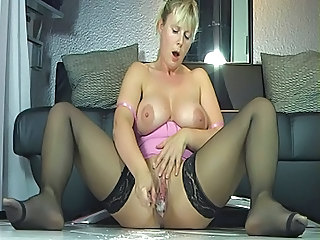 Masturbating  Orgasm Stockings Toy