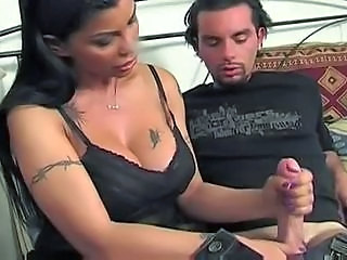 Big Tits European Handjob Italian  Old and Young Tattoo