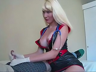 Handjob Latex  Nurse Uniform