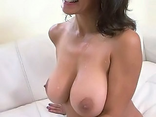 Amazing Big Tits Casting Cumshot  Natural Nipples