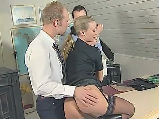 Ass European  Stockings Threesome