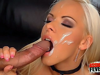 Amazing  Cumshot Facial Cute  Pornstar Swallow