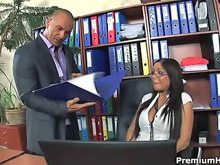 Amazing Glasses  Office Pornstar Secretary