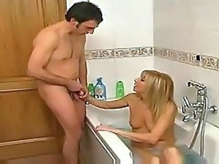 Bathroom Handjob Italian Mom