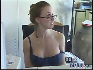 Big Tits Glasses  Office