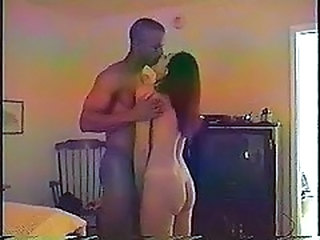 Interracial Kissing Vintage Wife