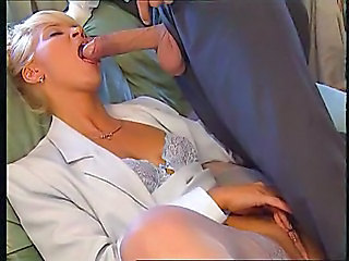 Blowjob Clothed Lingerie  Secretary