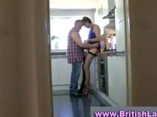 Amateur British European Kitchen Mature Stockings